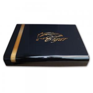 Angelo High Gloss Black Cigar Humidor – 20 Cigar Capacity